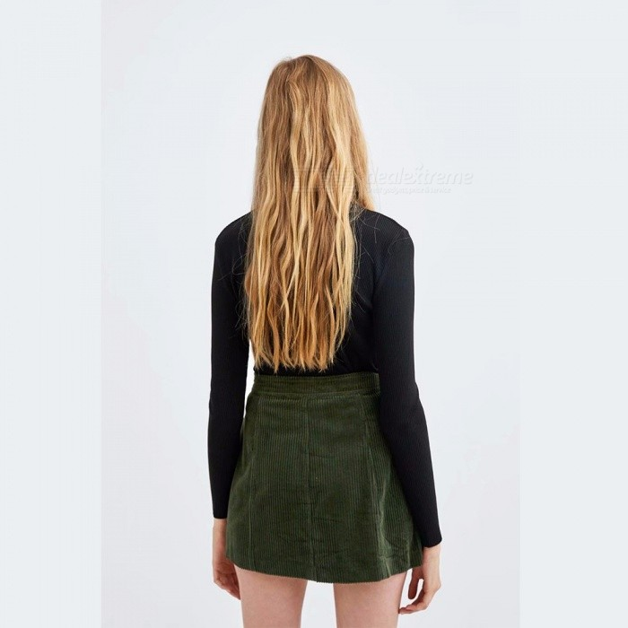Women's Clothing Energetic Korean Fashion Female Long Skirts Women High Waist Army Green A-line Skirts Pocket Solid Color High Resilience