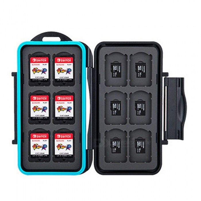 Nintendo Switch MC-NSMSD Waterproof Cartridges Game Card Storage Box With 12 Game Card Slots Black