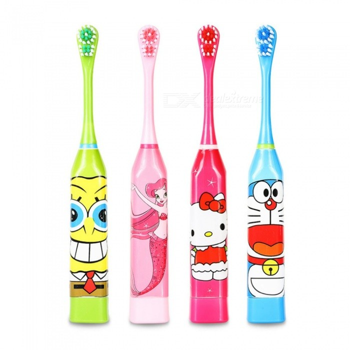 Cute Children\'s Electric Toothbrush, Waterproof Soft Bristle Teeth Whitening Toothbrush For Kids (Random Color) Random Color