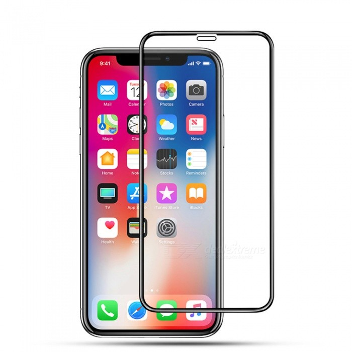 XSUNI Carved Full Screen Covered Tempered Film for IPhone XR