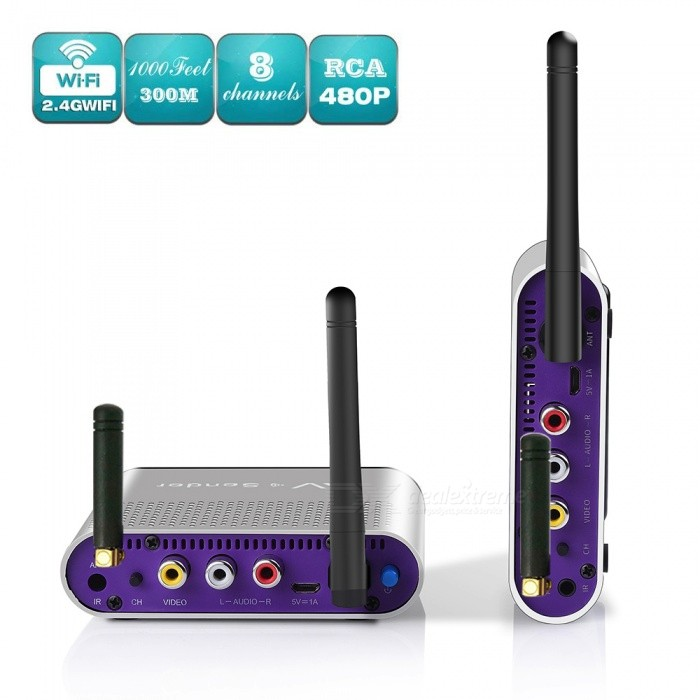 Measy AV230 2.4GHZ Wireless Audio Video SD TV AV Sender Transmitter & Receiver