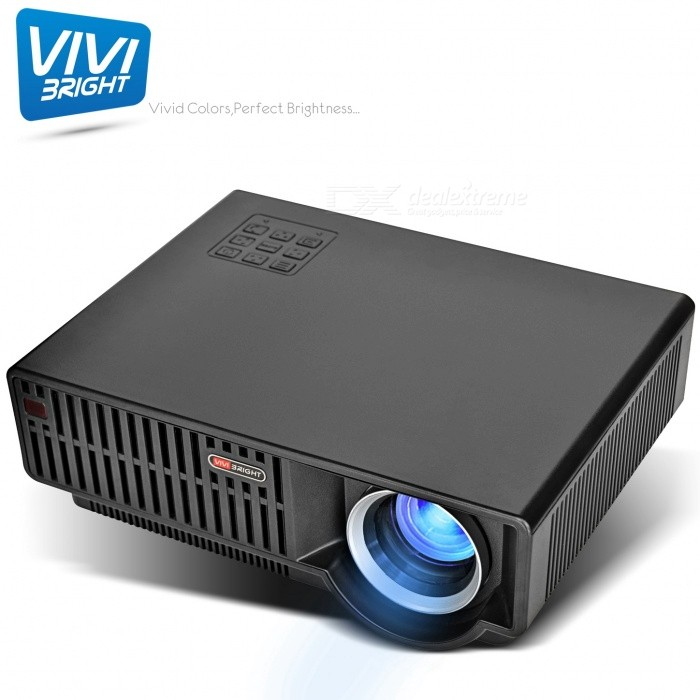 VIVIBRIGHT C90UP Home Android Smart Projector 720P Home Theater Projector  Dual HDMI Built-in WIFI/Bluetooth