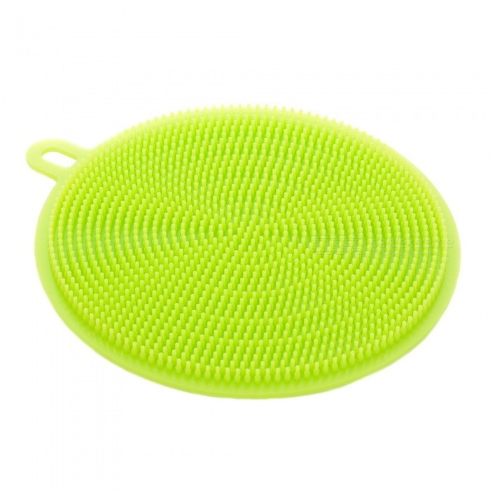 JEDX Multifunction Silicone Dish Bowl Cleaning Brush Silicone Scouring Pad Silicone Dish Sponge Kitchen Pot Cleaner Washing Tool