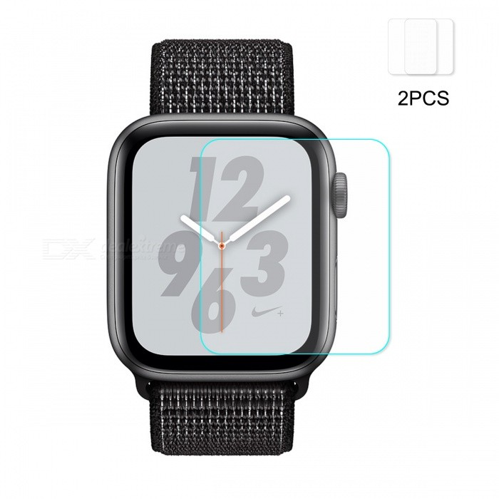 2Pcs Hat-Prince Ultra Thin Clear Tempered Glass Screen Protector Film for Apple Watch Series 4 44mm