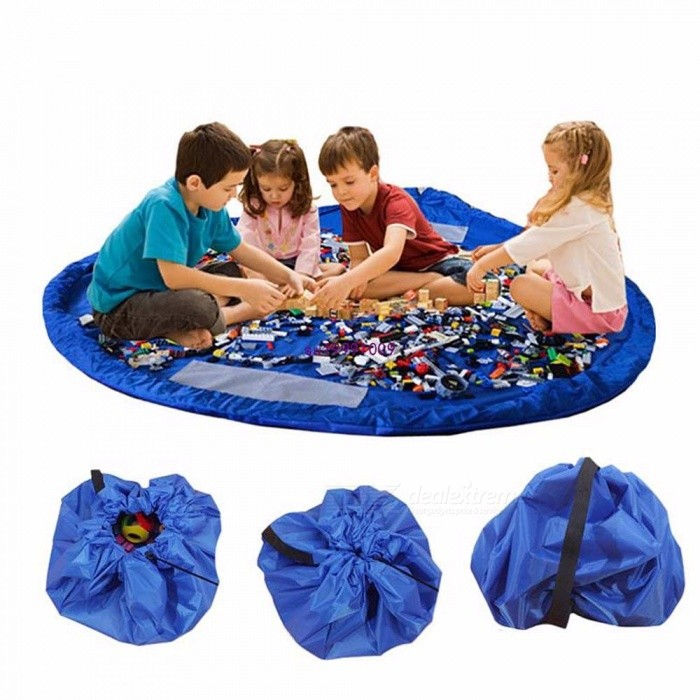 Multifunctional Children's Playmat And Toy Storage Bag For Indoor And Outdoor Use Foldable Play Mat For Baby L/Rose