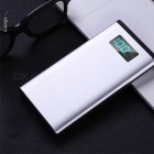 Thin Lightweight 10000mAh Single USB Type-C Power Bank External Battery Pack With LCD Display For Mobile Phones Black
