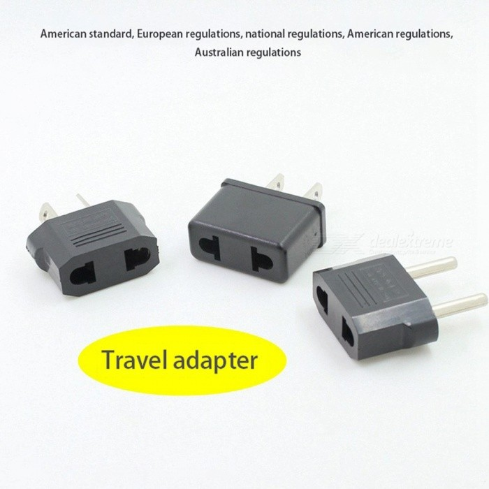 Mini US/EU To EU/US/AU Plug Travel AC Power Adapter Plug, Power Charger Socket Converter, Standard Supply Conversion US Plug/Black