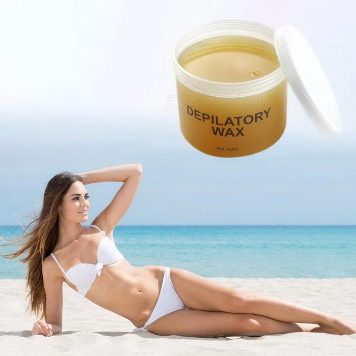 450g Depilatory Wax, Epilator Facial Arm Leg Armpit Body Bikini Underarm Honey Hair Removal Cream Beeswax For Men Women Orange
