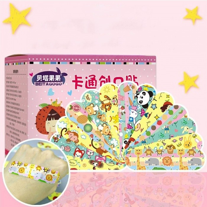 120pcs Cartoon Cute Breathable Waterproof Band Aids Bandages Hemostasis First Aid Kit For Kids Children Home Multi/S