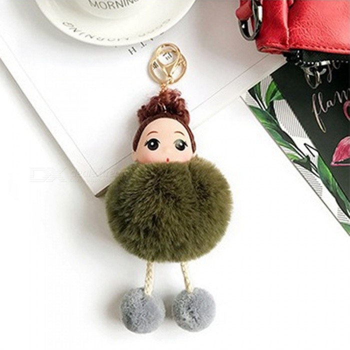 Cute Cartoon Baby Plush Doll Key Chain Phone Bag Car Ornament Lovely Keychains For Ladies Girls Gifts Royal Blue