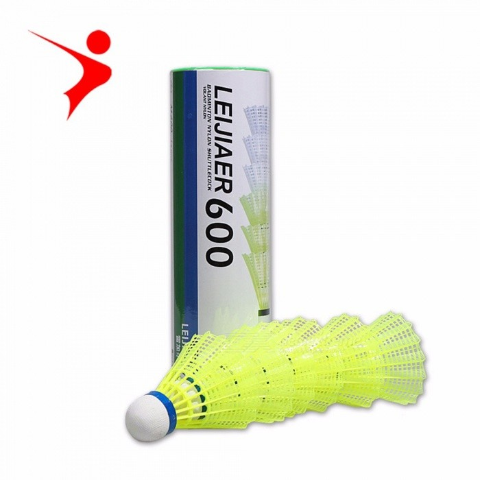 LEIJIAER 6 PCS Training Exercise Nylon Yellow Shuttlecocks Badminton Balls Game Sport Yellow
