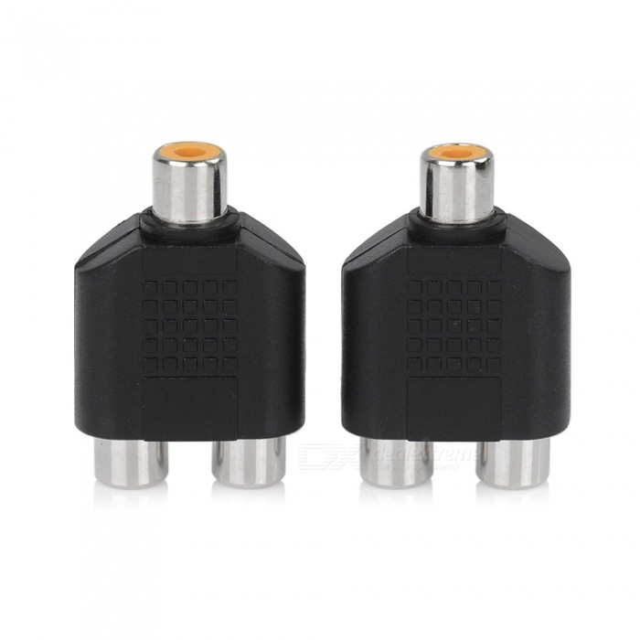 RCA Female to 2 RCA Female Connector (2 PCS)