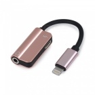 Mini Metal Lightning to 3.5mm Headphones + Charging 2-in-1 Adapter Cable for Apple IPHONE Devices