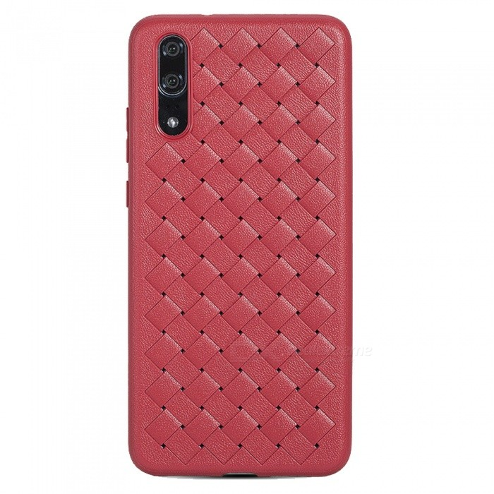 XSUNI Super Soft Phone Case for Huawei P20 Pro Luxury Grid Weaving Cover