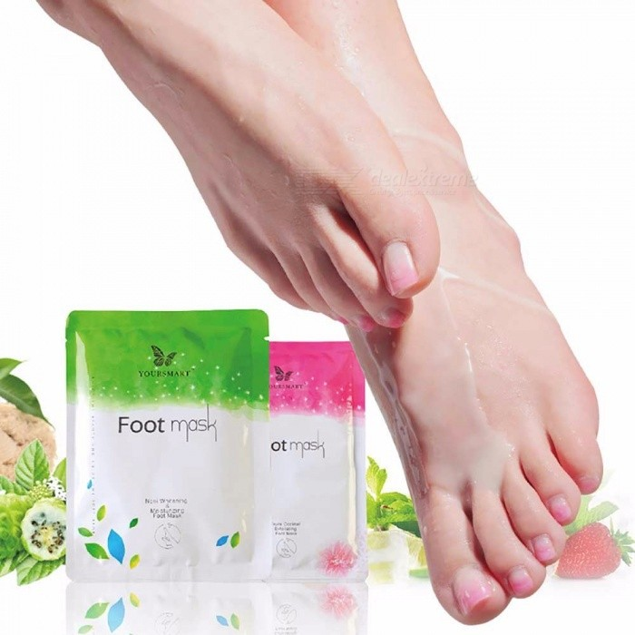 Peeling Feet Mask, Super Exfoliating Dead Skin Cuticles Removal Socks For Pedicure Feet Care Random Color