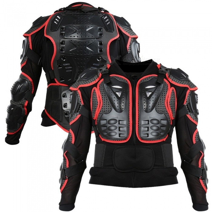Unisex Motorcycle Armor Protection Motocross Clothing Jacket Protector, Moto Cross Back Armor Protective Gear Black/S