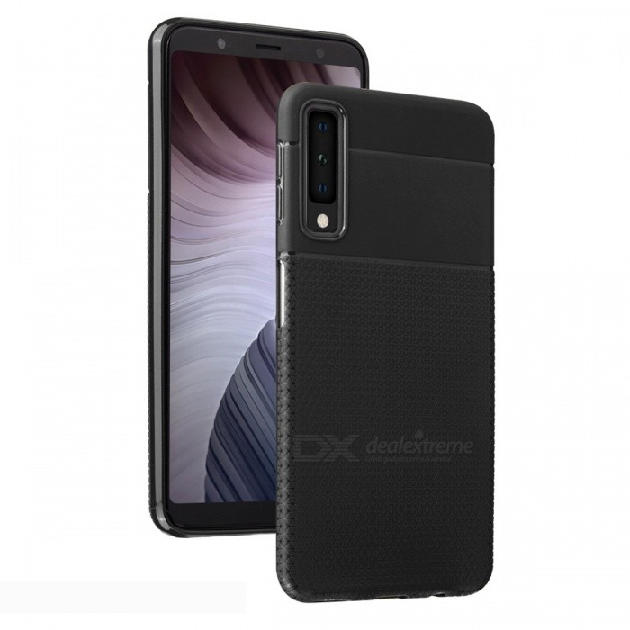 Ultra-thin TPU Soft Back Cover Case for Samsung Galaxy A7 (2018) - Black