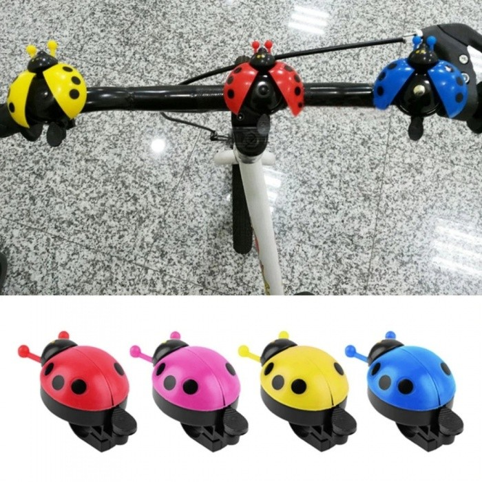 Funny Bicycle New Ladybug Cycling Bell Outdoor Fun Sports Bike Rings Bells Camping Accessories Random Color