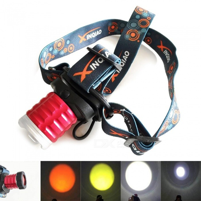 Aluminum Alloy Portable XPE LED Headlamps Rotate 3 Modes Strong Light Outdoor Waterproof Lighting White/Red
