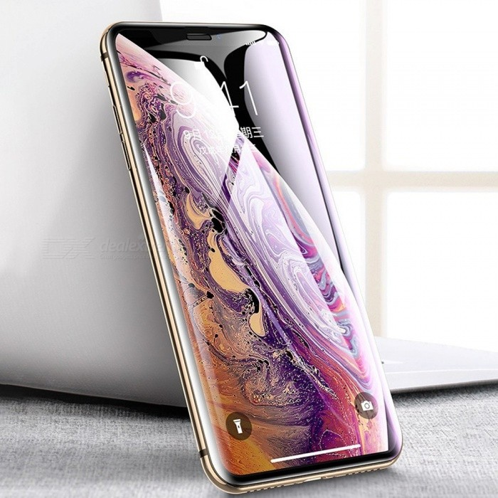 Cafele 9D Curved Edge Tempered Glass Full Screen Protector Film For IPHONE XR XS XS MAX Transparent/IPHONE XS 5.8