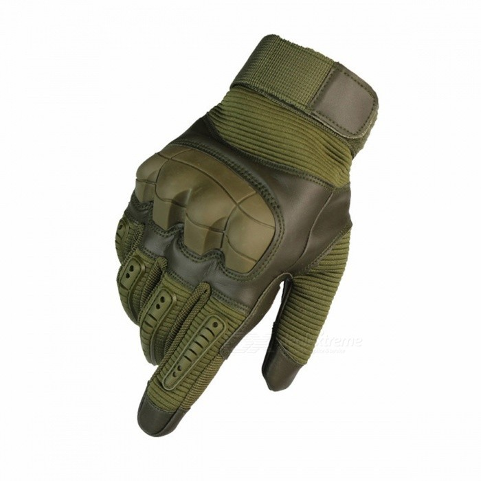 Sports Fitness Riding Gloves Fan Tactical Outdoor Nylon Motorcycle Gloves Protective Gear Army Green/S