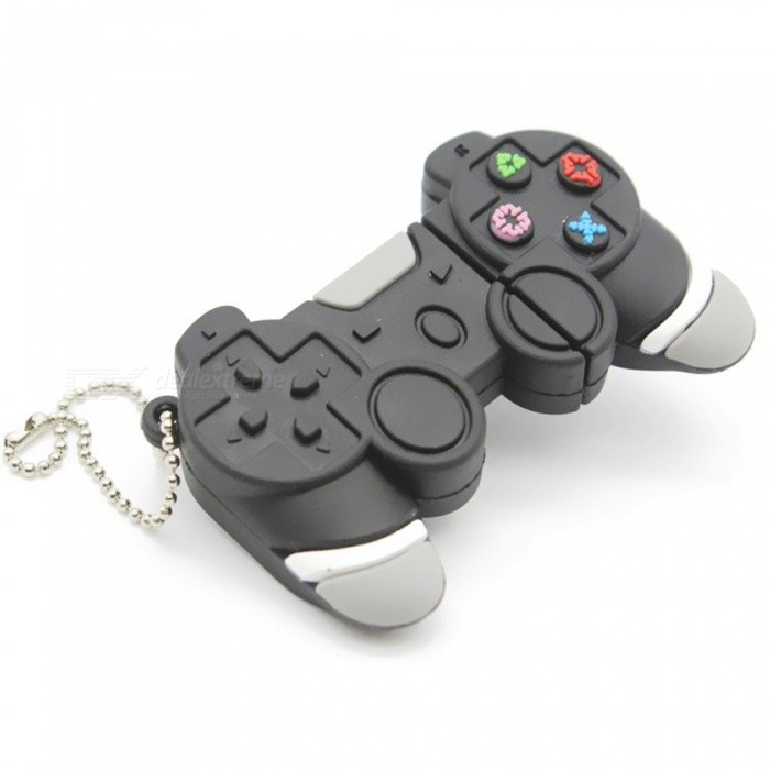 Creative Game Console Style USB 2.0 Flash Drive Mini Portable Silicone Memory Flash Disk With Keychain 8GB/Gray