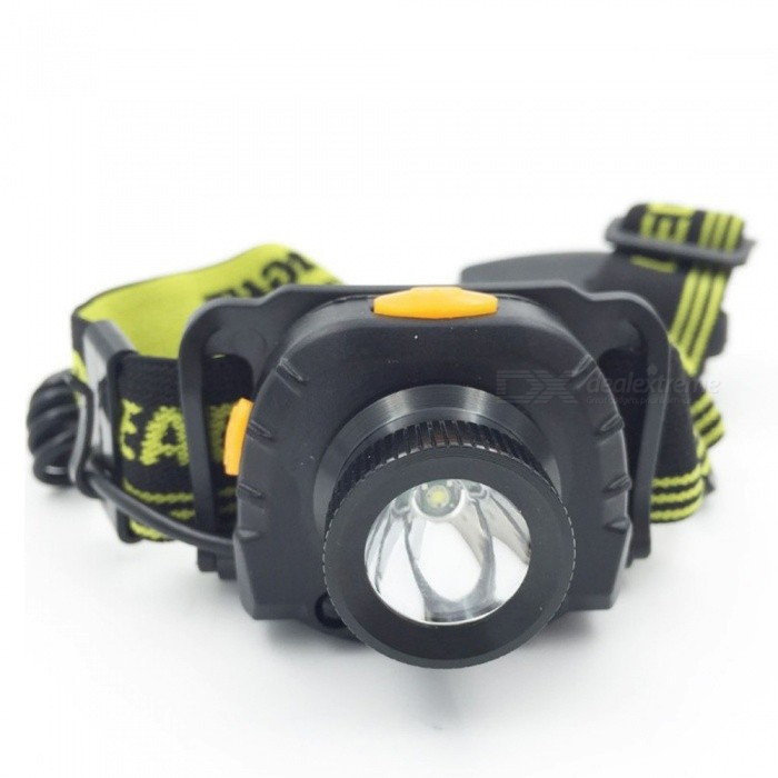Mini Portable LED Headlamps Infrared Sensor Strong Light Outdoor Waterproof Camping Hiking Riding Lighting White/Black