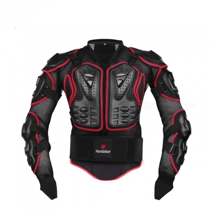 HEROBIKER Motorcycle Jacket Protective Motocross Gear Armor Body Chest Motor Rider Racing Jackets Protection Black/M