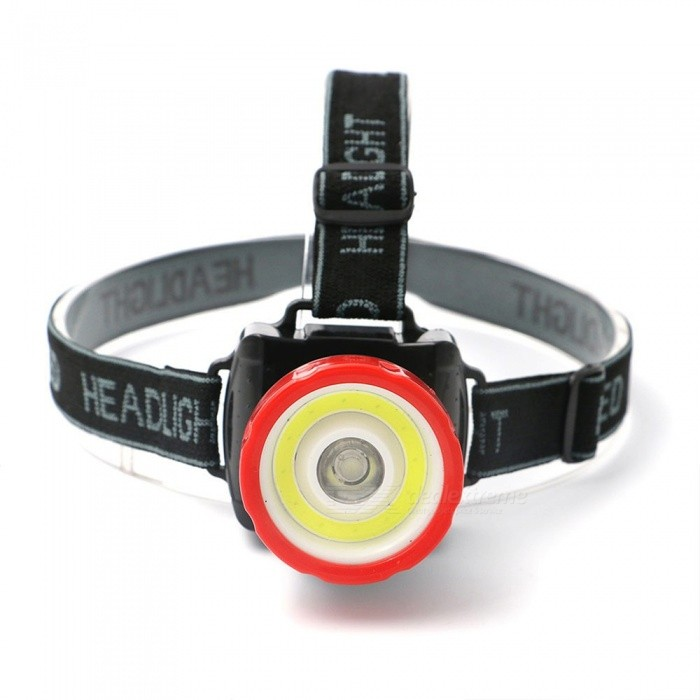 Mini Portable COB LED Headlamps Strong Light Outdoor Waterproof Lighting White/Red