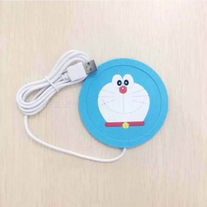 Cute Cartoon 5V USB Warmer Silicone Heat Heater For Milk Tea Coffee Mug Hot Drinks Beverage Cup Coaster Kitchen Gadgets M/Violet