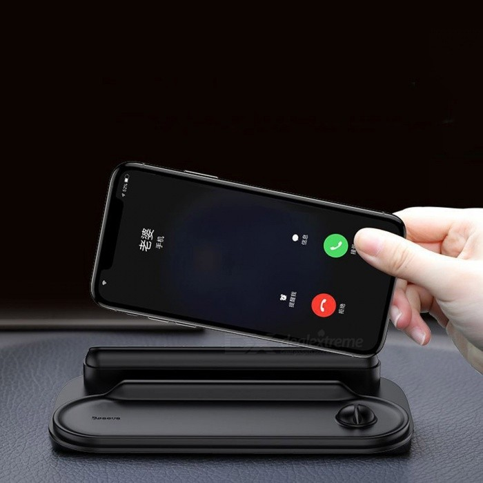 BASEUS Universal Multi-function Desk Phone Holder Car Silicone Temporary Parking Phone Number Board Holders Black