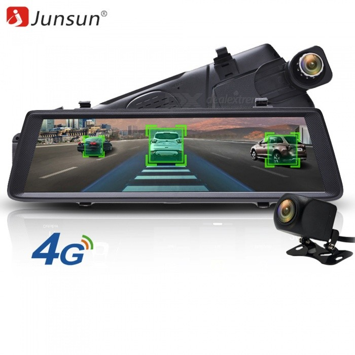 "Junsun A900P 10"" Car DVR, ADAS Dash Cam, 4G Stream Rearview Mirror FHD 1080P Dual Lens GPS Navigation Video Recorder Camera DVR"