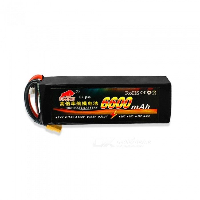 HJ 11.1V 6600mAh 35C  3S  Rechargeable Lipo Battery XT60 Plug For RC Drone Car Boat