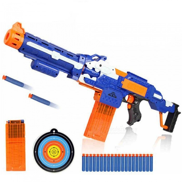Eva2king Electric Soft Bullet Toy Gun For Nerf Shooting Submachine Gun Weapon Funny Outdoors Toys For Kids