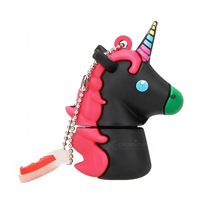 Lovely Cartoon Unicorn Pen Drive, Cute USB Flash Drive Memory Stick Pendrive U Disk 4GB/White
