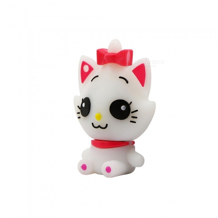 Cartoon Mini Cat USB 2.0 Flash Drive Memory Stick U Disk, Cute Pen Drive 8GB/White