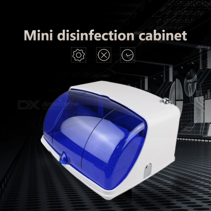 Professional Mini 5W UV Sterilizer, Bactericidal Thermostat Warmer Disinfection Device For Nail Art Blue + White