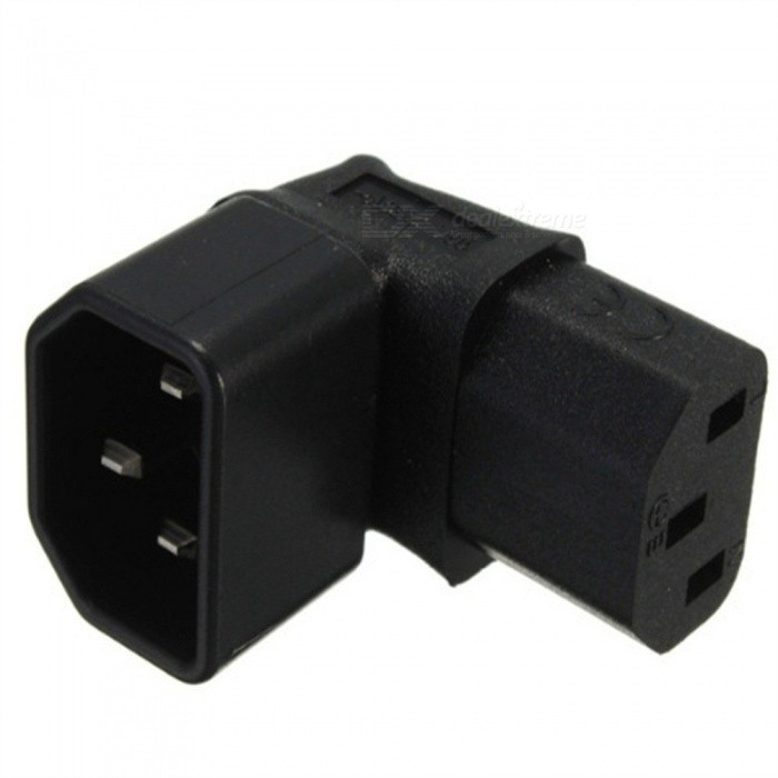 ... L Shape 90 Degree Elbow C13 Female To C14 Male Plug Socket Adapter Converter For Wall ...