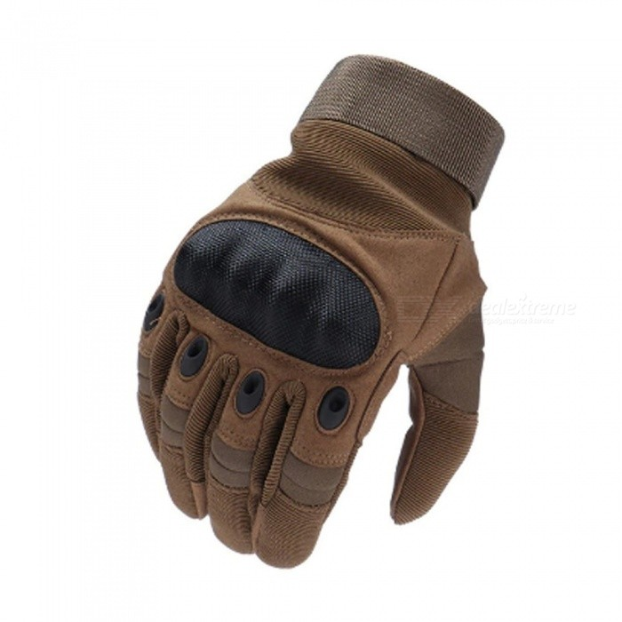 Mofaner Motorcycle Gloves, Outdoor Sport Racing Motorbike Motocross Protective Breathable Full Finger Glove Brown/XL