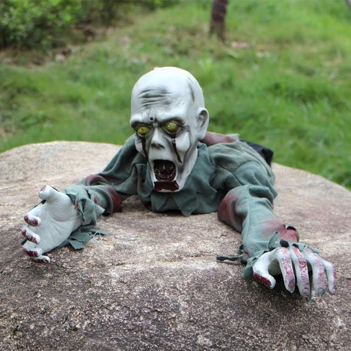 Festival Halloween Party Crawling Ghosts Haunted House Escape Decoration Accessories, Electric Ghost Toy Gray