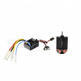 540 35T 4 Poles Brushed Motor and WP 1060 RTR 60A Waterproof Brushed ESC with 5V/2A BEC for 1/10 RC Car