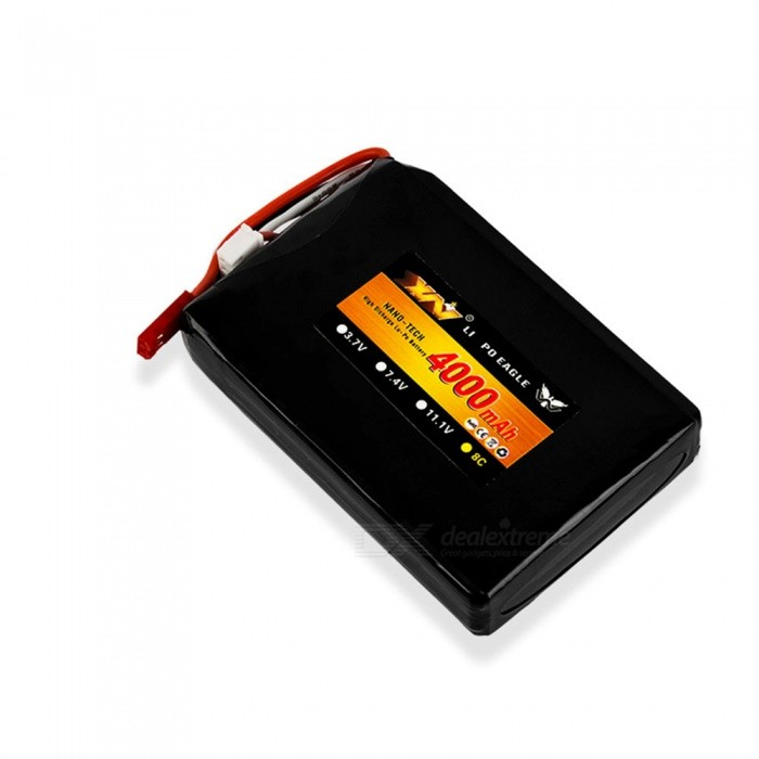 2S 7.4V 4000mAh 8C RC LiPo Airplane Battery For RC Helicopter Quadrotor Drone Car Boat Truck