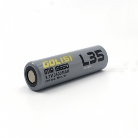 GOLISI S35 IMR 18650 3500mAh 3.7V CDR 10A Max. 20A E-CIG Rechargeable Battery for VAPE Flashlight Headlamp Toy