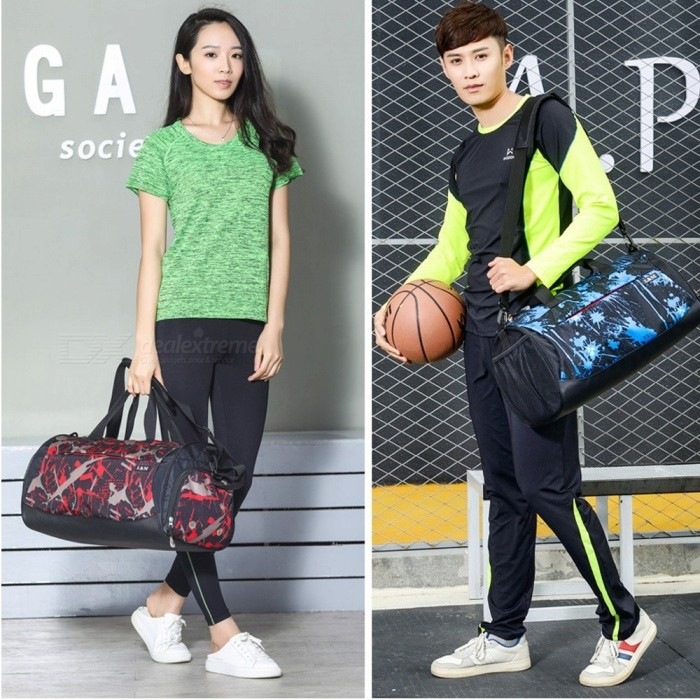 Multifunction-Outdoor-Sports-Fitness-Gym-Bag-Dry-And-Wet-Separation-Handbag-Travel-Shoulder-Bag-With-Space-For-Shoes-Blue