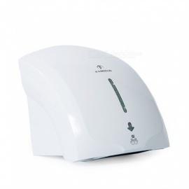 Modun-Hand-Dryer-Machine-Low-Velocity-Bathroom-Wall-Mount-ABS-Single-Hot-Automatic-Hand-Dryer-With-LED-Light-WhiteUS