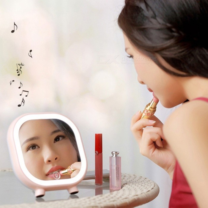Small-LED-Fill-in-Light-Makeup-Mirror-With-Bluetooth-Speaker-Function-Pocket-Make-Up-Vanity-Light-Mirror-For-Lady-Girls-PinkNatural-Light