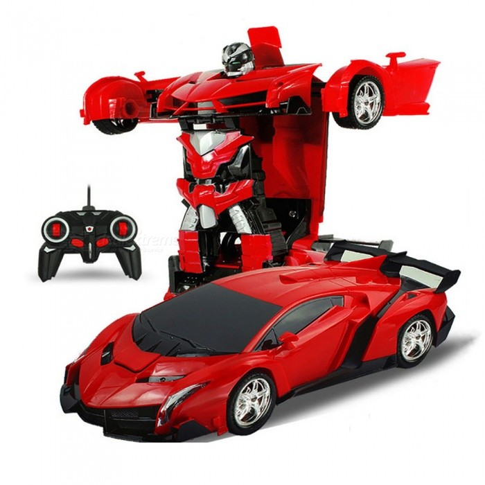 ESAMACT Sports Car Transformation Robot Model Remote Control Deformation RC Fighting Toy, Kids Children's Birthday Gift