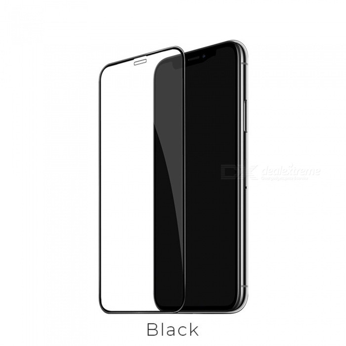 HOCO A8 Full Screen Protector 3D HD Tempered Glass Front Film For IPhone XS Max Black/Tempered Glass