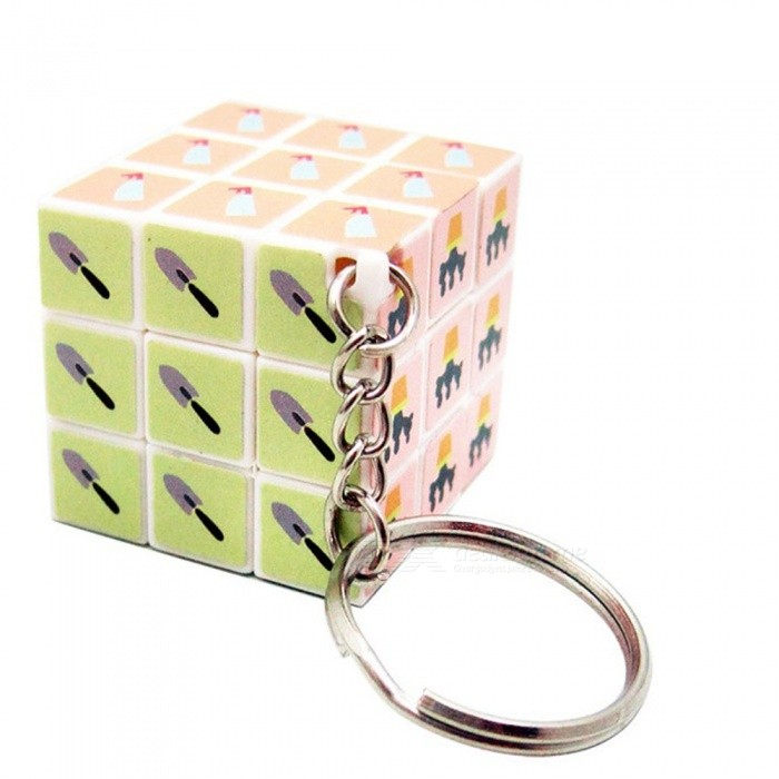KeyChain Mini Small 3cm Creative Magic Cube High Quality 3x3x3 Puzzle Classic Toys Key Chain Cube Multi