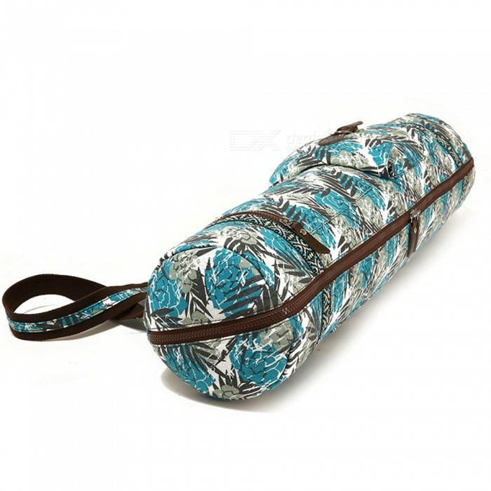 Multifunction Waterproof Lightweight Yoga Mat Backpack Canvas Floral Print Gym Fitness Bag Sports Supplies Assorted